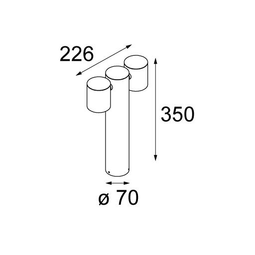 ljusihem.se | Lotis 86 IP55 GU10 white struc | Super Modular