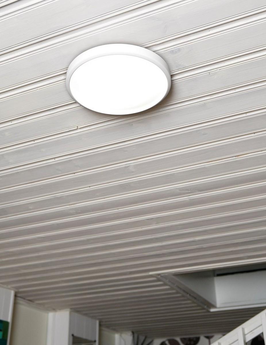 slim plafond d430 mattvit led 20w sensor mini belid. Black Bedroom Furniture Sets. Home Design Ideas