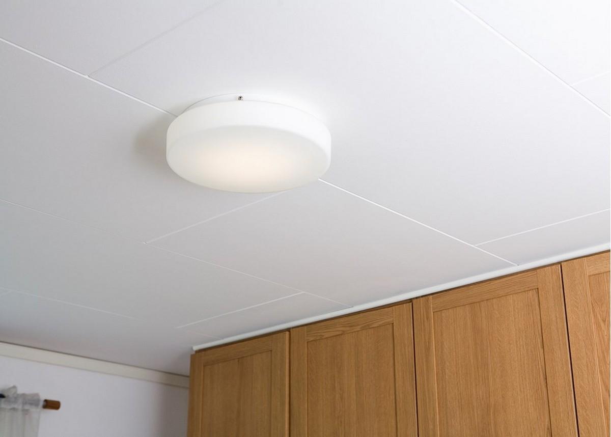 rondo plafond d350 opal glas led 23w belid. Black Bedroom Furniture Sets. Home Design Ideas