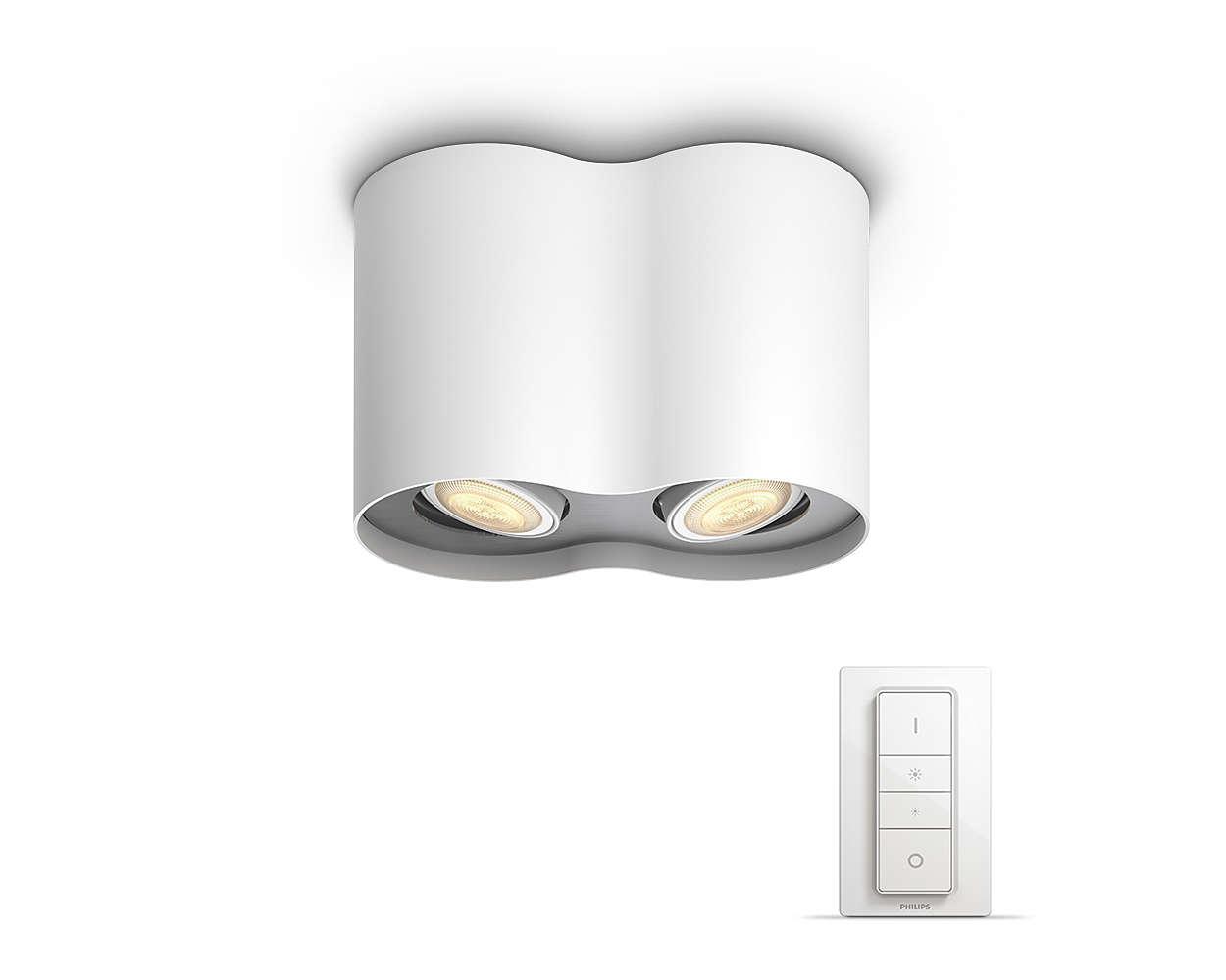 pillar huespot white 2x50w philips hue. Black Bedroom Furniture Sets. Home Design Ideas
